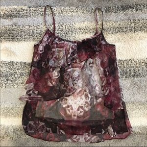 Like New 🛍 Ruffled double layer camisole